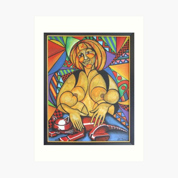 Madre amorosa (Loving mother) Art Print