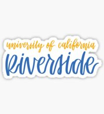 UC Riverside Sticker