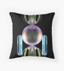 Glass robot at your service Throw Pillow