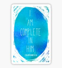 I am Complete in Him Sticker