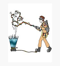 Casper meets The Ghostbusters Photographic Print