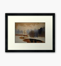 Peaceful Tranquil Contemporary Winter Scene Framed Print