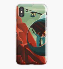 THE VOLCANO OF MARS - Olympus Mons | Space | X | Retro | Vintage | Futurism | Sci-Fi iPhone Case/Skin