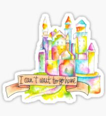 Castle on the hill Sticker