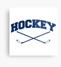 Hockey 2 Sticks Crossed Metal Print