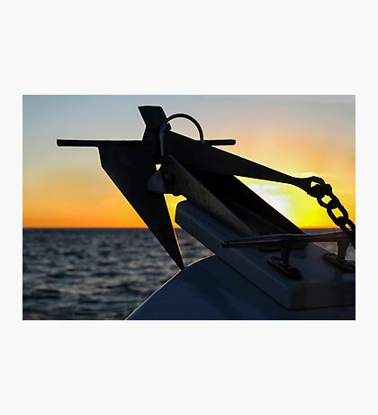 Anchor at Sunset, San Diego Photographic Print
