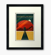 THE MOONS OF MARS - Space | X | Retro | Vintage | Futurism | Sci-Fi | Two Framed Print