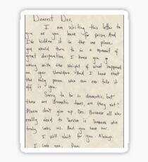 Penny's Letter to Des Sticker