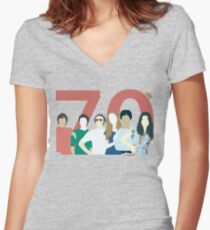 That 70s Show - Retro Look Women's Fitted V-Neck T-Shirt