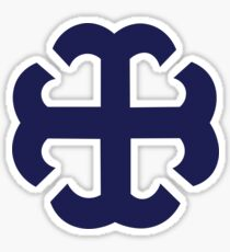 Navy French Cross Sticker  Sticker