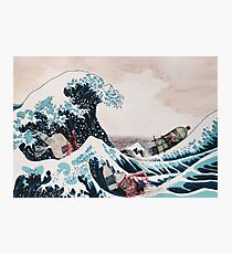 The Great Wave plastic pollution Photographic Print