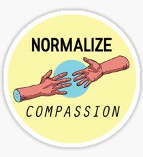NORMALIZE COMPASSION Sticker