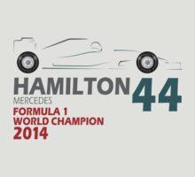Lewis Hamilton World Champion 2014   Unisex T-Shirt
