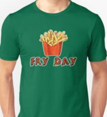 Fry Day Cute and Funny T-Shirt with French Fries Unisex T-Shirt