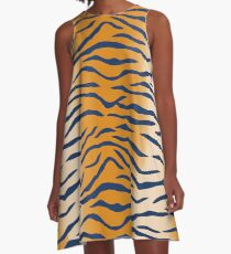 Auburn Tiger Stripes A-Line Dress