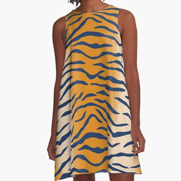 Auburn Tiger Stripes A-Line Dress