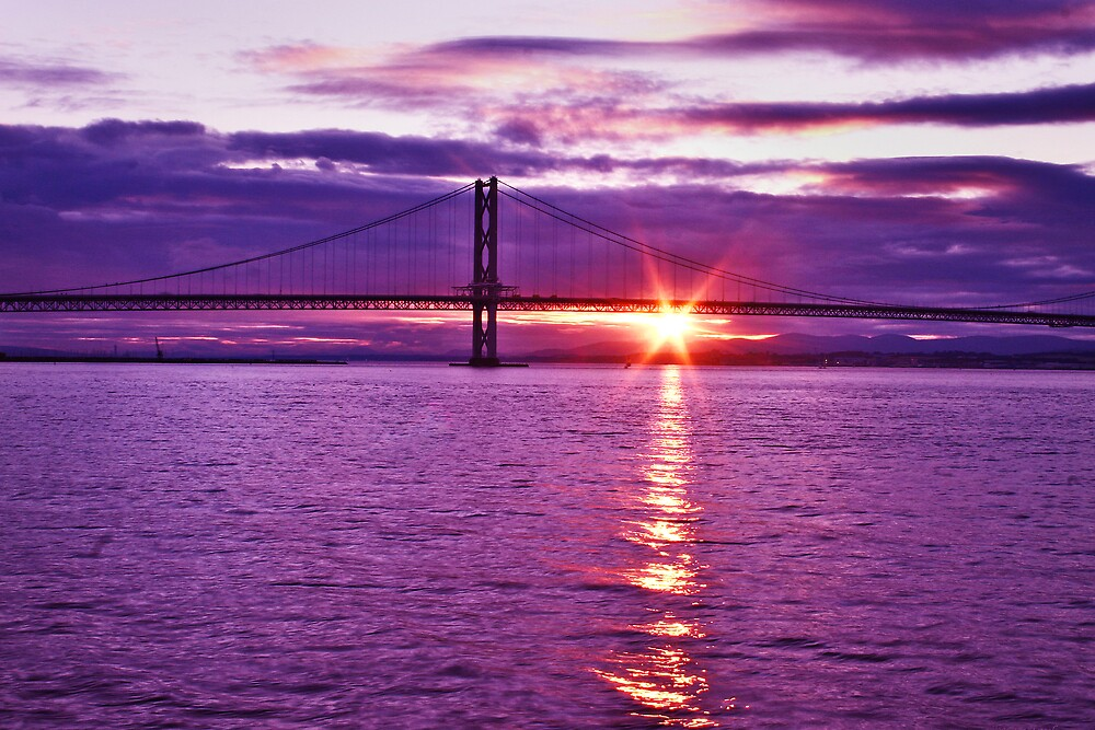Sunset over the River Forth by Chris Clark