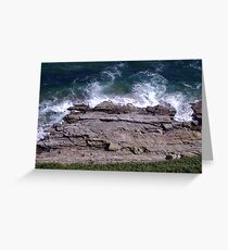rocks edge Greeting Card