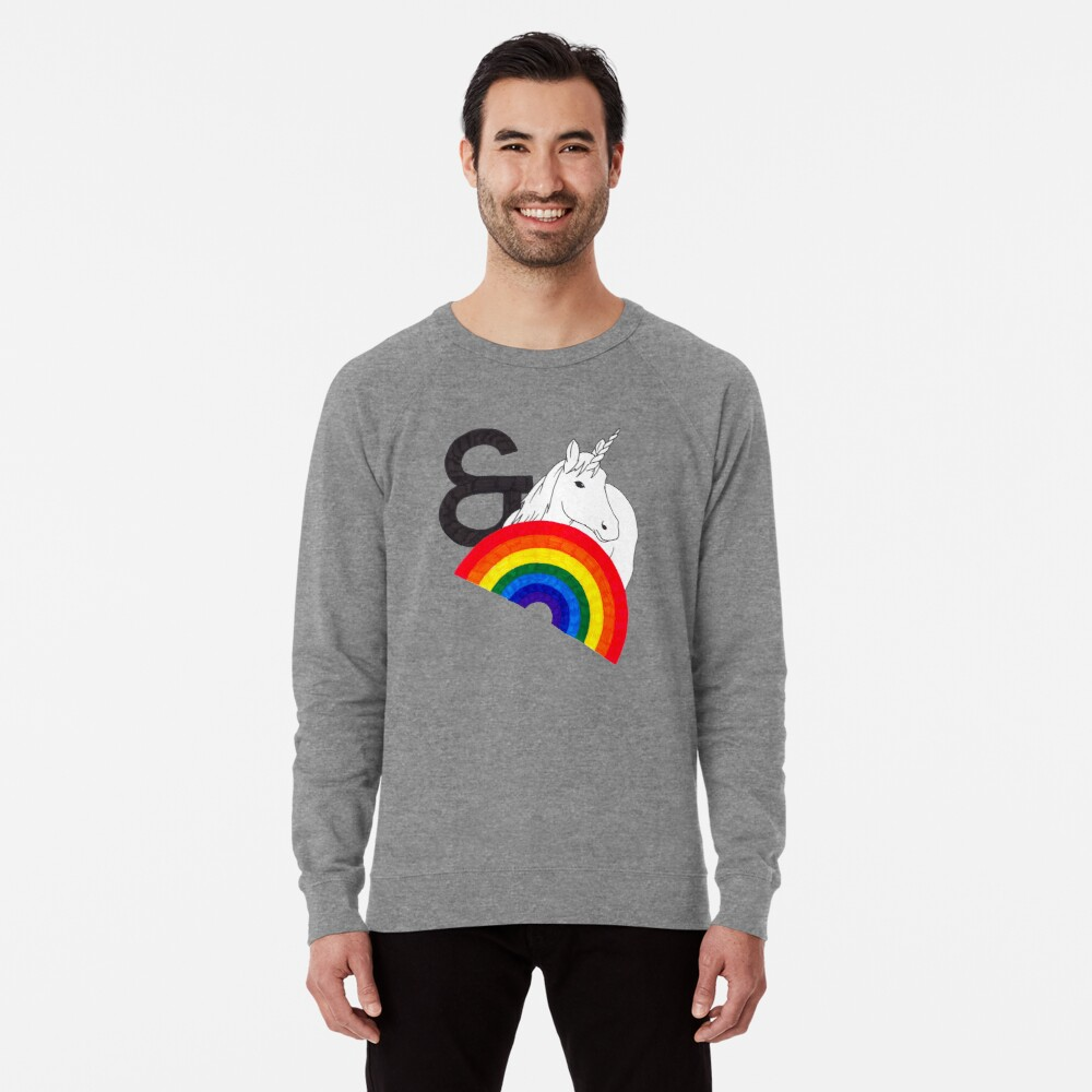 Rainbows & Unicorns Lightweight Sweatshirt