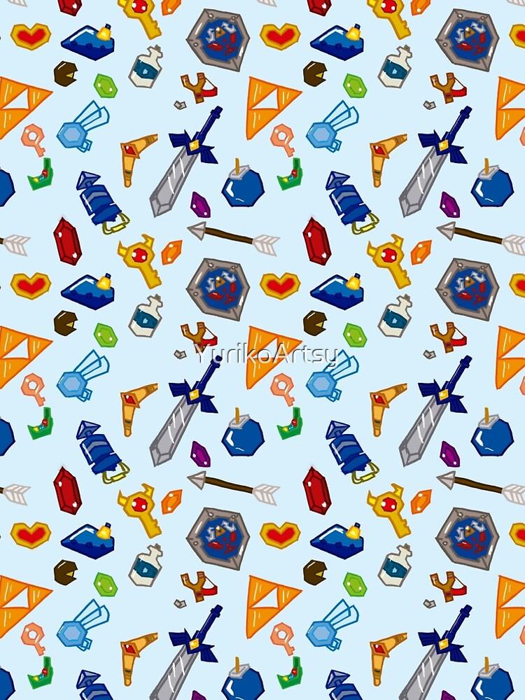 Zelda ocarina of time pattern by YurikoArtsy