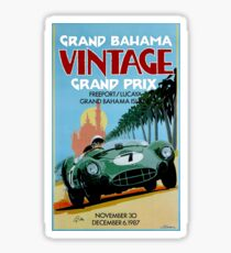 GRAND BAHAMA; Vintage Grand Prix Auto Prints Sticker