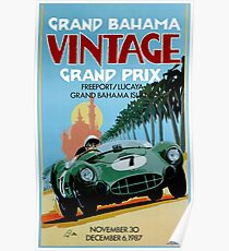 GRAND BAHAMA; Vintage Grand Prix Auto Prints Poster