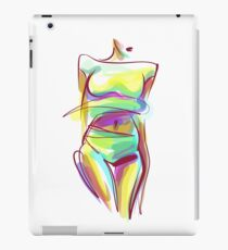 -drawn graphics with beautiful young   girl  iPad Case/Skin