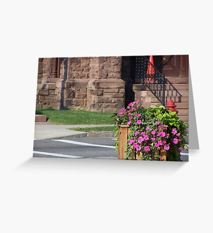 Busy Corner Greeting Card