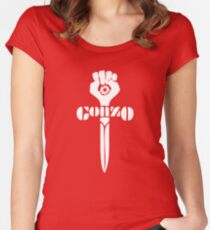 Gonzo Fist Women's Fitted Scoop T-Shirt