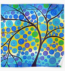 Green Vibrant Tree of Life  Poster