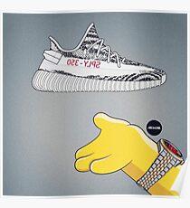 ZEBRA YEEEZY YZZZY HYPEBEAST Poster