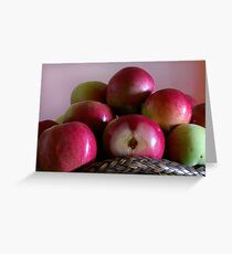 Fresh Apples with seeds Greeting Card