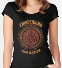 Firebending university Women's Fitted Scoop T-Shirt