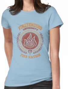 Firebending university Womens Fitted T-Shirt