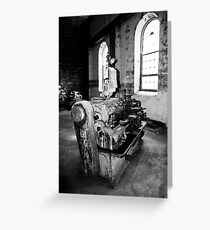 Lathe (Cockatoo Island) Greeting Card