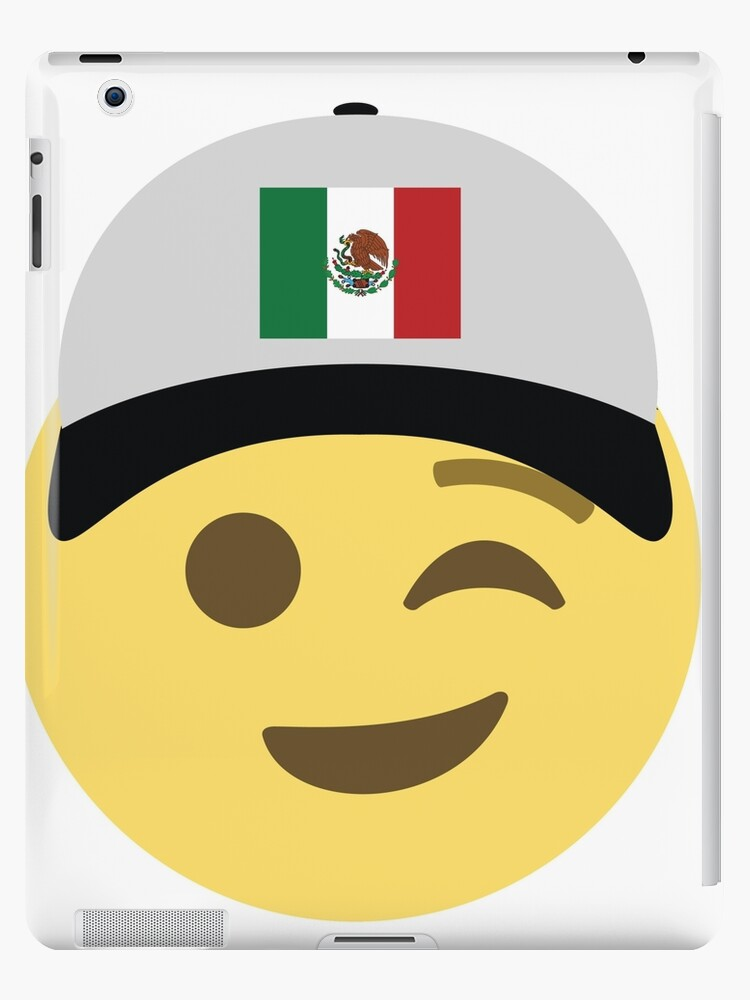 Mexico Emoji Wink Baseball Hat Ipad Case Skin By Worldofprints Redbubble Download a printabe mexican flag (8.5 x 11). redbubble