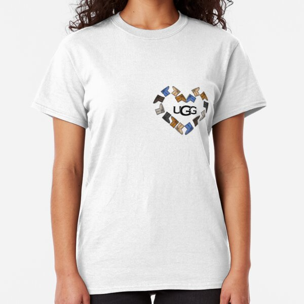 UGG Boot Heart Love  Classic T-Shirt