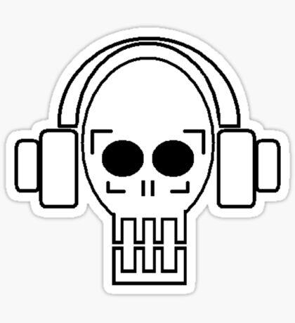 Skull of Rock Sticker