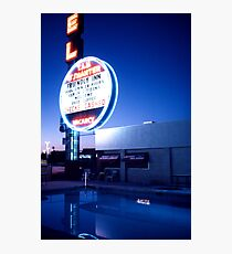 Vegas motel pool evening Photographic Print