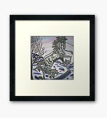 original acrylic unicorn painting Framed Print
