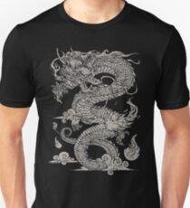 Vintage Ancient Chinese Dragon On Dark T-Shirt