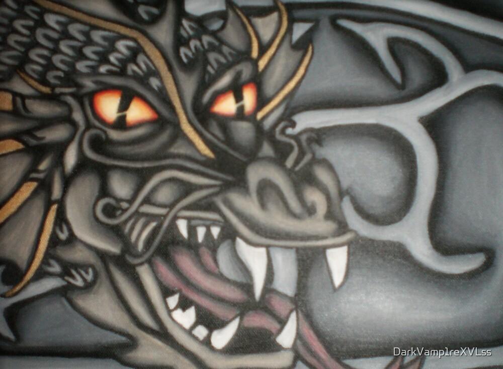 original dragon head painting by DarkVamp1reXVLss