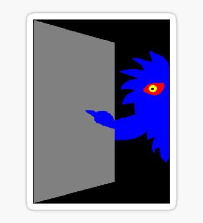Cupboard Monster Sticker
