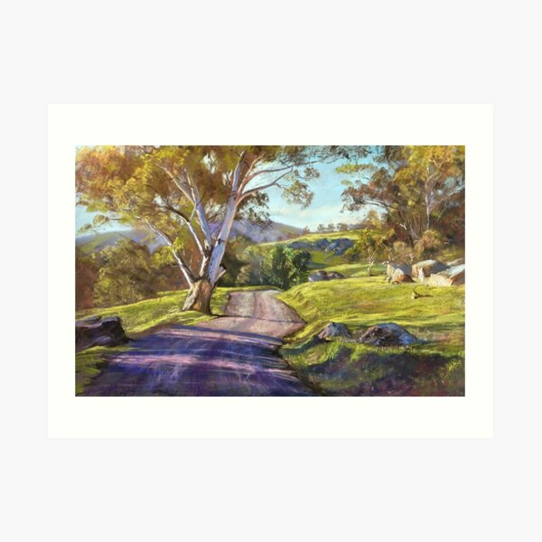 Spring in the Valley - Trawool Art Print