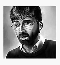 Alec Hardy Broadchurch David Tennant Digital Painting Photographic Print