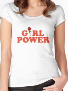 Girl Power Rose Women's Fitted Scoop T-Shirt