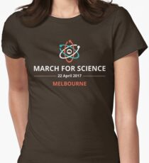 March for Science Melbourne logo – light  Womens Fitted T-Shirt