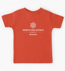 March for Science Brisbane logo – white  Kids Clothes