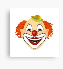 Vector illustration of laughing clown.  Canvas Print