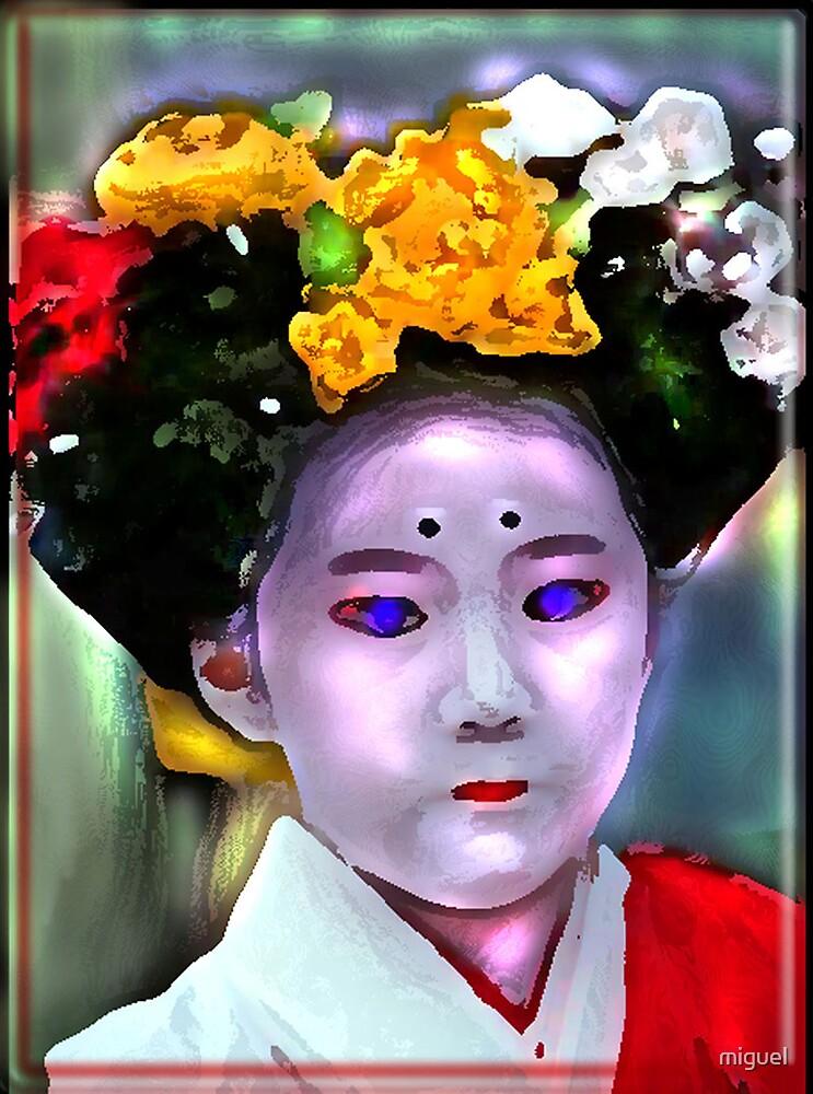 YOUNG KYOTO GEISHA by miguel